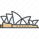 australia, building, landmark, monument, opera house, sydney, tourism
