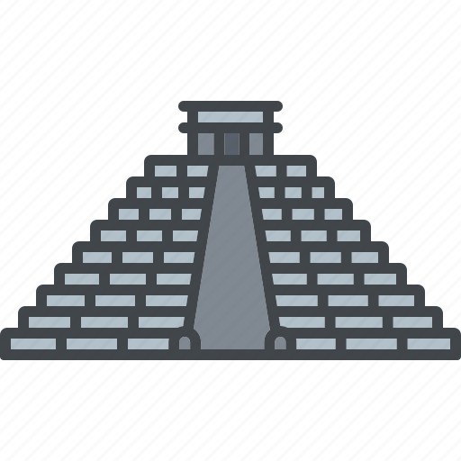 building, chichen utza, landmark, mexico, monument, pyramid, tourism icon
