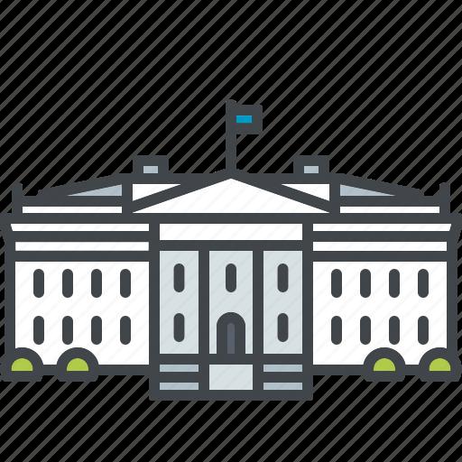 building, landmark, monument, tourism, usa, washington, white house icon