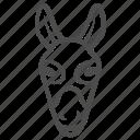donkey, farm, animal, horse, ears, head