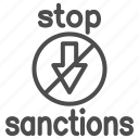 stop, sanctions, warning, ban, forbidden, attention