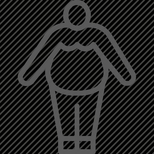 big, body, fat, human, man, obesity icon