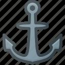 anchor, hook, navy, see, ship