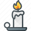 candel, flame, light icon