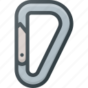 accessory, carabiner, climb, extreme, mountain, rope icon