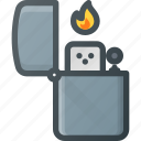 cigarette, fire, lighter, zippo icon