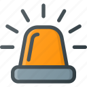 alarm, allert, emergency, fire, light icon