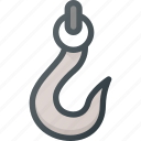 attache, construction, crain, hook, industry, lift icon