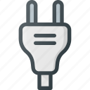 electric, electronics, plug, plugin, socket icon