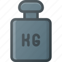kg, kilogram, lift, weight icon