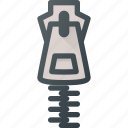 zipper, zip, fasshion icon