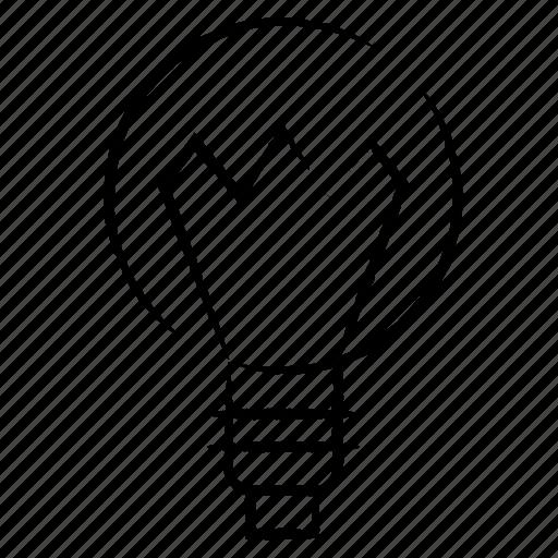 bulb, idea, light, object icon