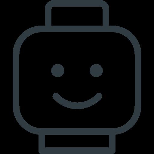figure, head, lego, smile, toy icon