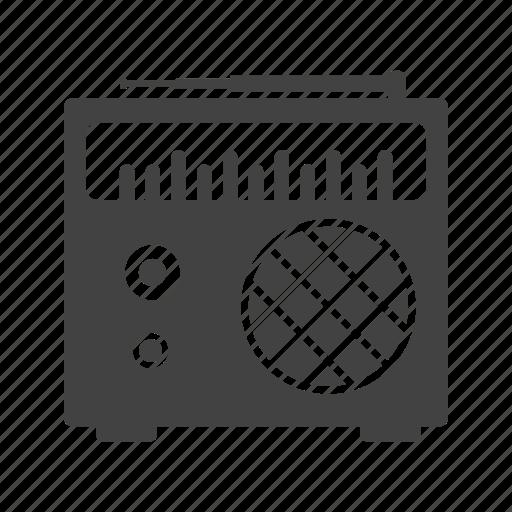 Old, radio, speaker, station, style, tuner, white icon - Download on Iconfinder
