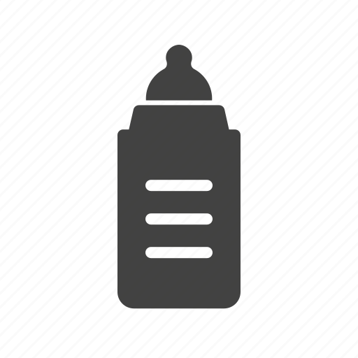 baby, bottle, food, glass, infant, milk, white icon