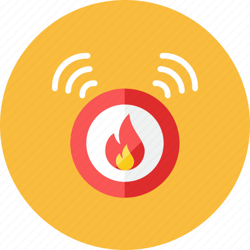 alarm, fire icon