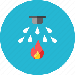fire, sprinkler icon