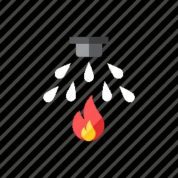 fire, sprinkler icon