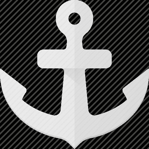 anchor, hook, navy, see, ship icon