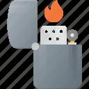 cigarette, fire, lighter, zippo icon