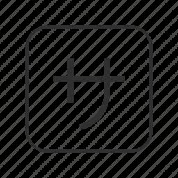 chinese, japanese, japanese button, japanese syllabary, katakana sa, katakana sa button, squared katakana sa icon