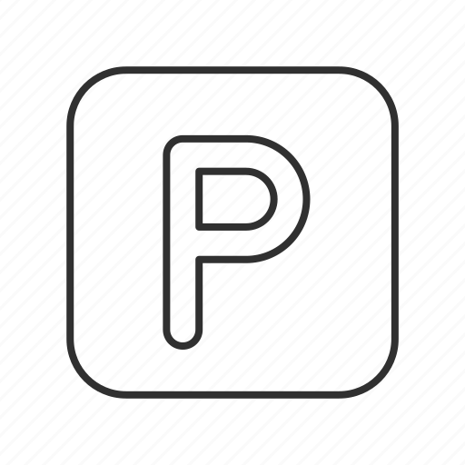 p, p button, parking, parking button, parking sign, parking spot, sign icon