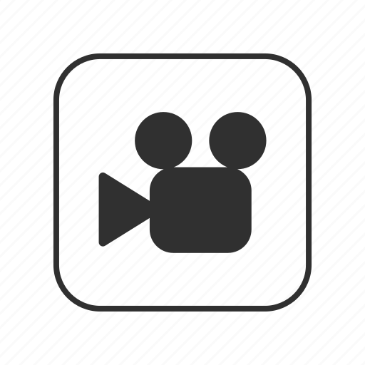 camera, film, movie, video, video camera, video camera button, videography icon
