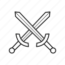 battle, combat, cross sword, fight, sword, war, warrior icon