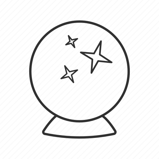 ball, crystal, crystal ball, fortune, fortune teller, future, orbuculum icon
