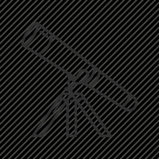 binoculars, lens, observation, optical instrument, radiation, telescope, vision icon