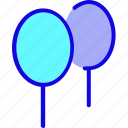 air, balloon, birthday, celebration, decoration, objects, party icon