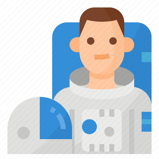 astronaut, avatar, occupation, space icon