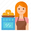 avatar, baker, bakery, occupation icon