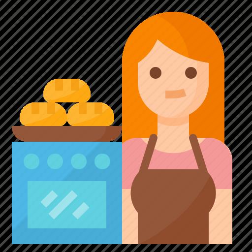 avatar, baker, bakery, occupation icon
