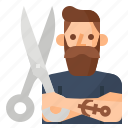 barber, occupation, avatar, hipster icon