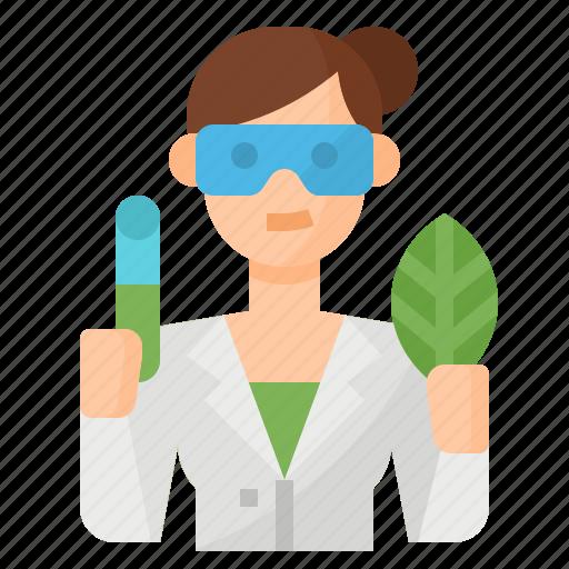 avatar, biologist, occupation, scientist icon