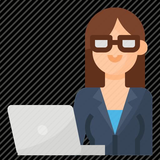avatar, business, businesswoman, occupation icon