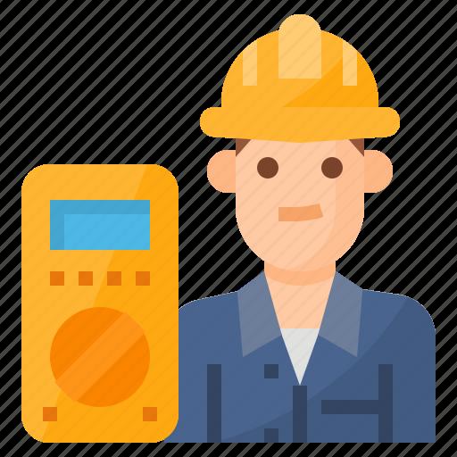 avatar, electrician, occupation, technician icon