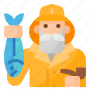 avatar, fisher, fisherman, occupation icon