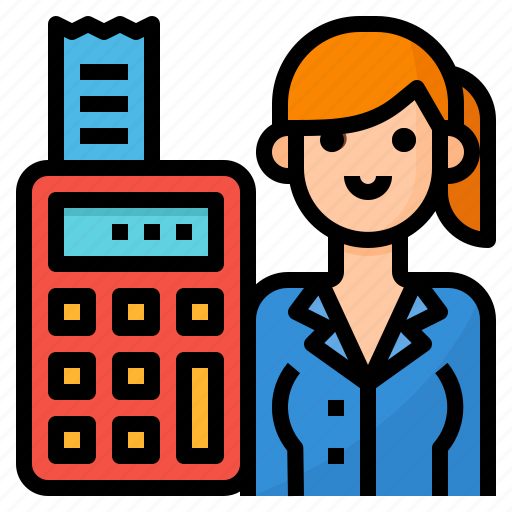 accountant, avatar, business, occupation icon
