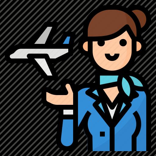 air, avatar, hostess, occupation icon