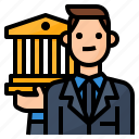 avatar, bank, banker, occupation icon