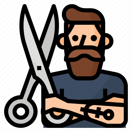 avatar, barber, hipster, occupation icon