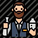 avatar, bartender, drink, occupation icon