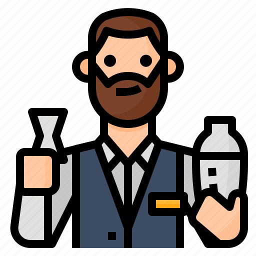 avatar, bartender, drink, occupation icon