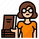 avatar, bookseller, bookstore, occupation icon