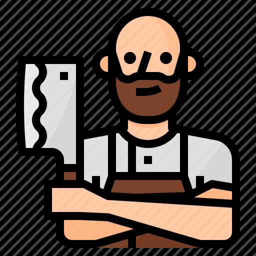 avatar, beef, butcher, occupation icon