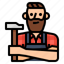 avatar, carpenter, craft, occupation icon