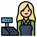 avatar, cashier, occupation, payment icon