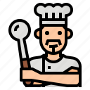 avatar, chef, cook, occupation icon